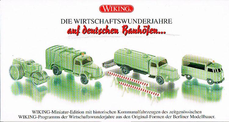 Wiking 9905552, 4 Fahrzeuge der Wirtschaftswunderjahre