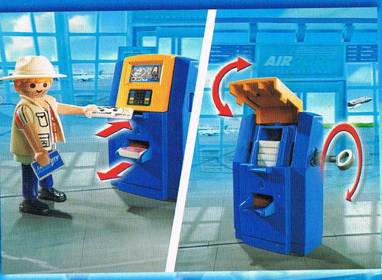 Playmobil 5399 Familie am Check-in Automat Seite