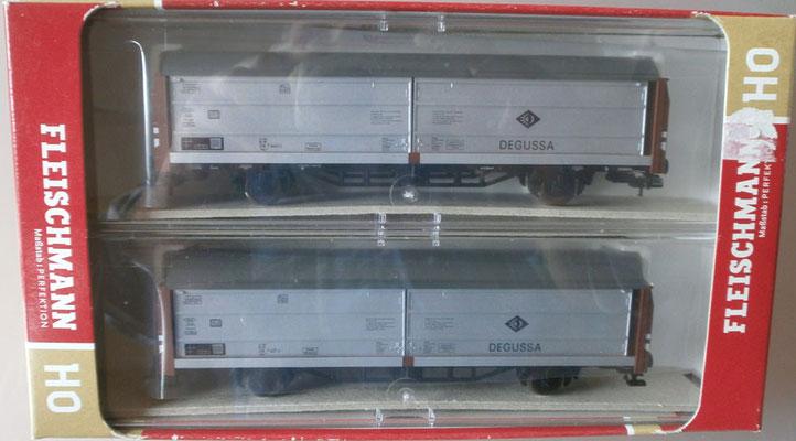 Fleischmann H0 533708 Schiebewandwagenset Degussa, Verpackung
