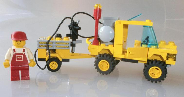Lego 6667 System Straßenbau Reparatur Wagen Seite