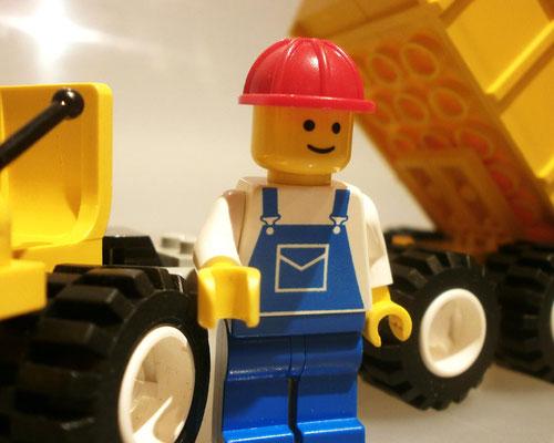 Legoland 6532 Bauarbeiter nah