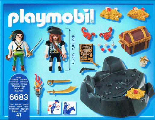 Playmobil 6683 Piraten Schatzversteck Rueckseite