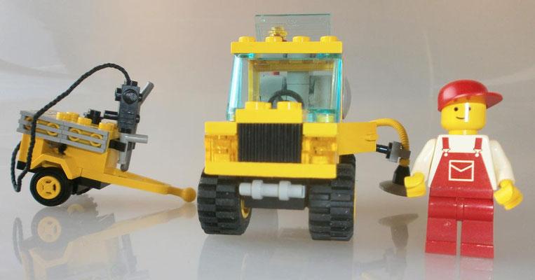 Lego 6667 System Straßenbau Reparatur Wagen vorne