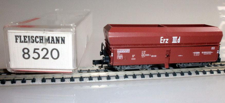 Fleischmann N 8520 Großraum Selbstentladewagen mit Verpackung