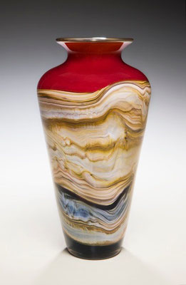 Ruby Strata Traditional Urn