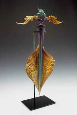 """Amethyst & Sage Talisman - 32"""" Tall"""