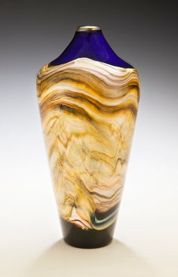 Cobalt Strata Closed Urn