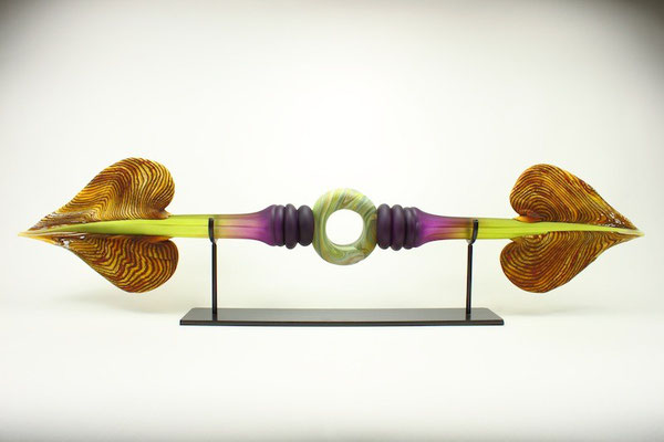 """Amethyst & Lime Austral with Ring Inclusion - 40"""" Wide"""