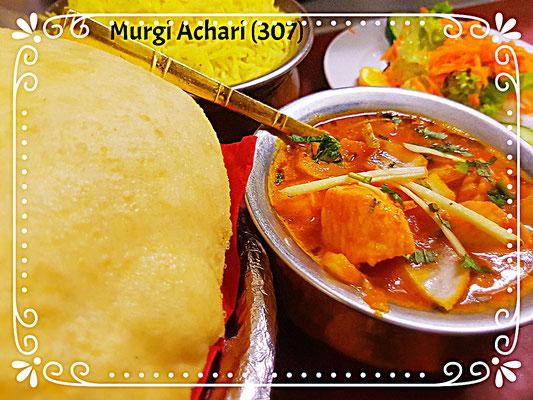 Achari Murgi(307) und Bhatura
