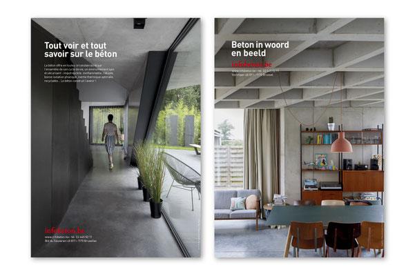 Infobeton, ads, brochures