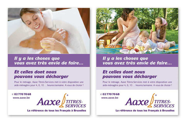 Ads for local newspapers and magazines