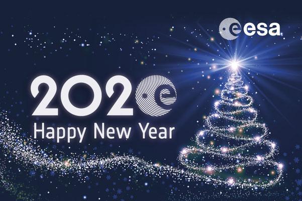 Christmas card for European Space Agency