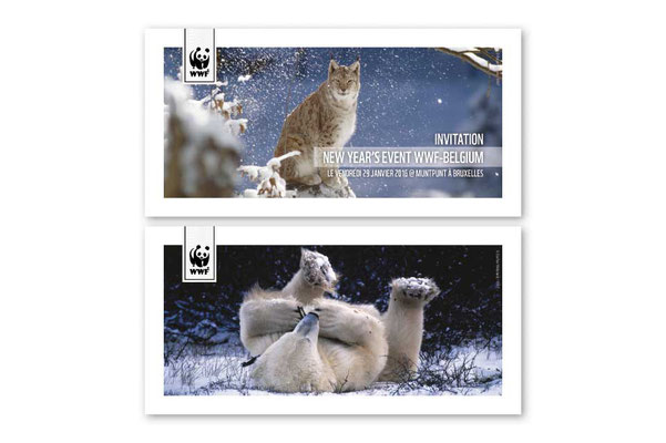 WWF, invitations, Christmas cards
