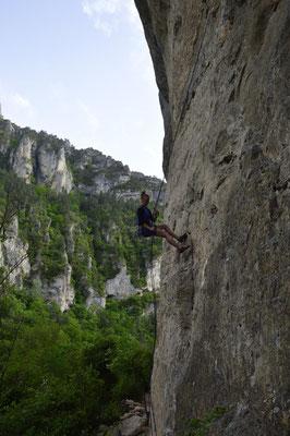 Seil umhängen, abseilen, wieder hoch klettern