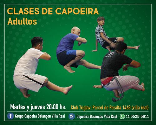 Grupo capoeira balançou en villa real