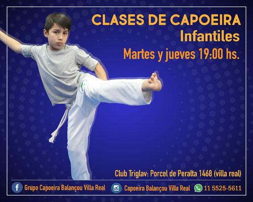 capoeira para niños en villa real