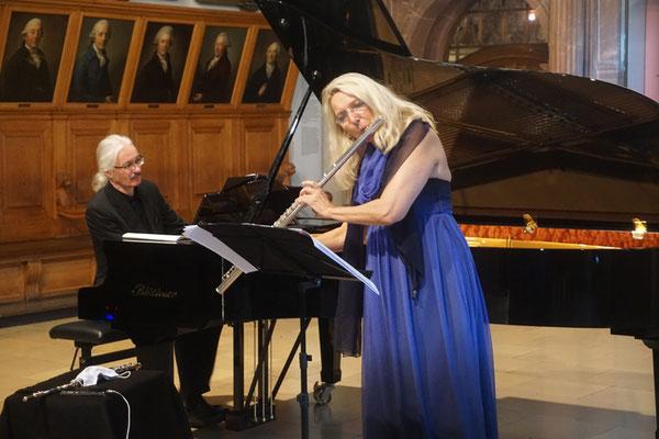 Brunhild Fischer (Querflöte) und Stephan König (Klavier)