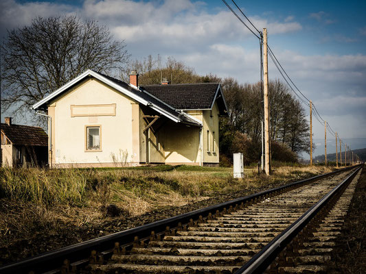 alter Bahnhof von Bad Blumau