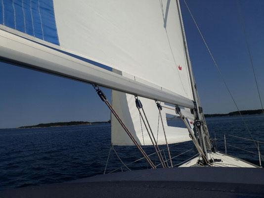 Finally sailing