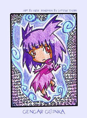 #015 ~ Chibi Gengar aus Pokemon ~ Buntstsifte ~ nicht frei