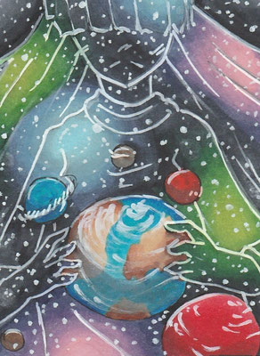 N005 ~ Galaxy World ~ Copic Marker ~ frei