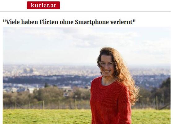 Bild: Susi Bartmann - Kurier September 2017 online oder offline - wo lernt man jemanden kennen?