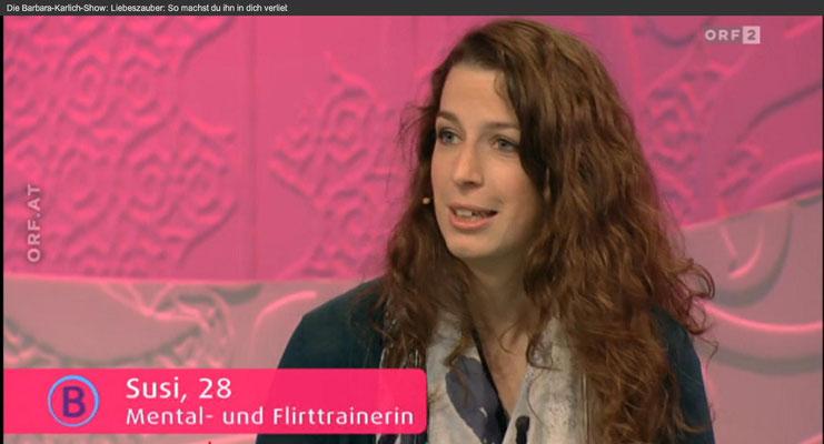 Bild: Barbara Karlich Show 11.02.2016 - Susi, Mental- und Flirttrainerin