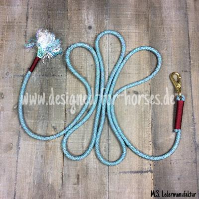 Führstrick nach Maß aus PPM Premium-Seil mit Messingkarabiner