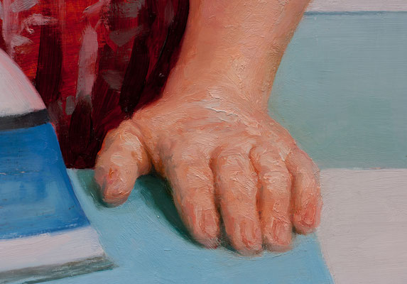 """Woman ironing (my mother)"" - Detail"