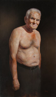 """Mi abuelo"" - Oil/Canvas/Panel 