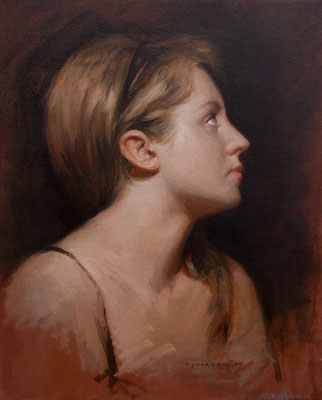 """Pilar de perfil"" - Oil/Canvas 