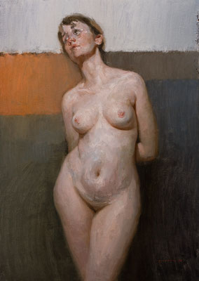"""Desnudo I"" - Oil/Panel 