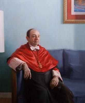 """Raúl Leopoldo Canosa Usera, Decano de la Facultad de Derecho de la UCM, Madrid"" - Oil/Panel | 100 x 81 cm | 2016"