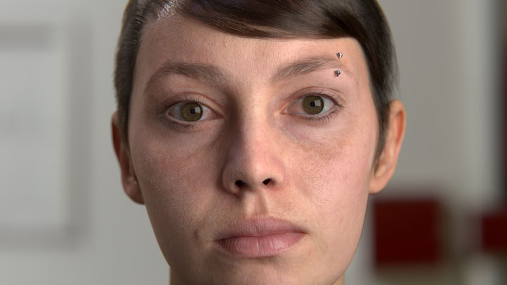 """Study of human skin using Emily 2.1"" Blender 