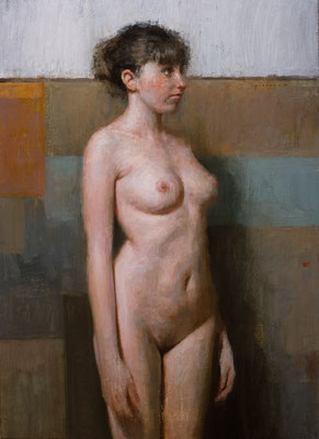 """Desnudo II"" - Oil/Panel | 60 x 40 cm | 2010"