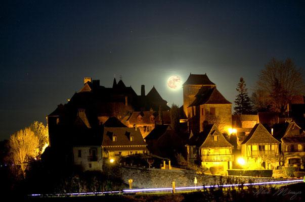 Loubressac au clair de lune