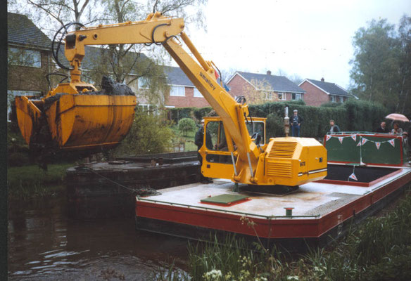 Barge - Basingstoke Canal Dredging - After