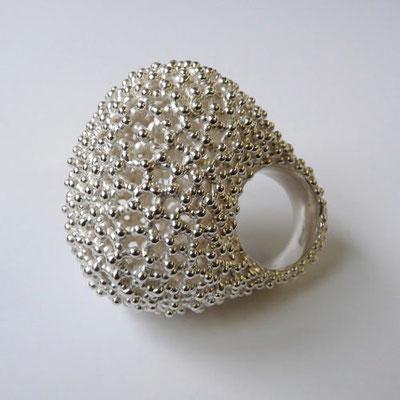 """Ring """"H eins"""", Silber"""