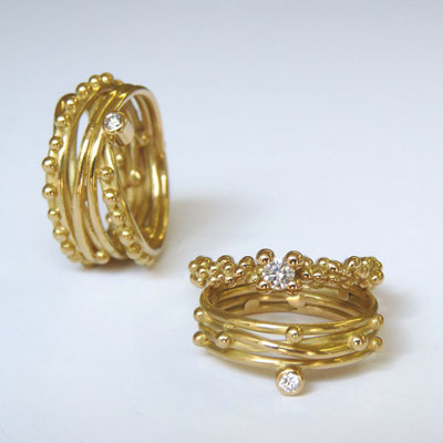 Ringe Gold 750, Brillanten