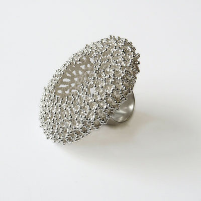 "Ring ""Oval"", Silber"