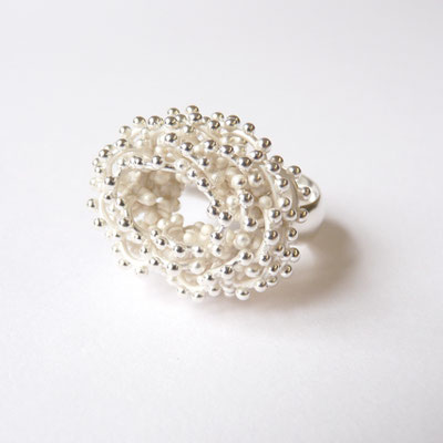 Ring oval, Silber