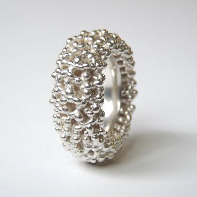 Ring abgerundet, Silber