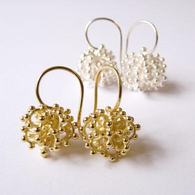 Ohrhänger Kugeln, Gold 750