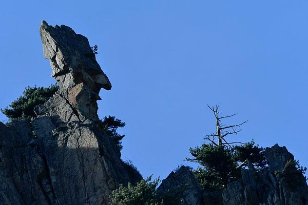 Visage de pierre, Corse