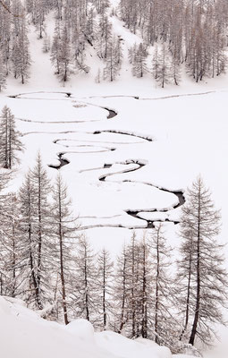 Méandres en hiver, Mercantour