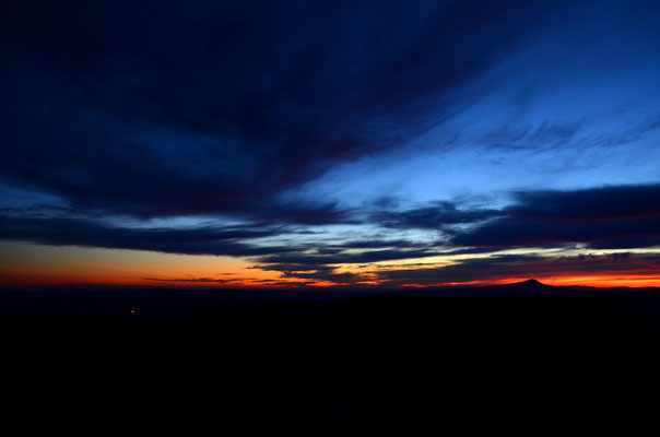 Coucher de soleil, Montagne de Lure