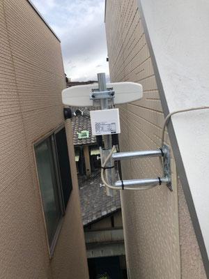 阿倍野区 地デジコンパクトアンテナ取付設置工事