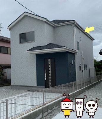 地デジデザインアンテナ工事(奈良県北葛城郡広陵町)③