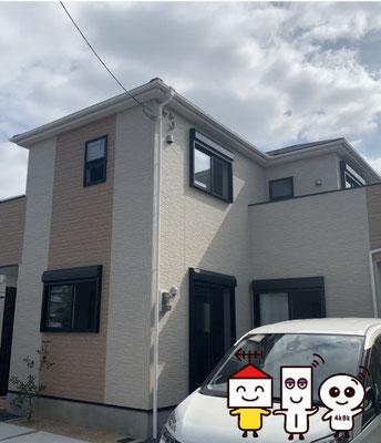 新築に地デジデザインアンテナ工事(堺市北区野遠町)