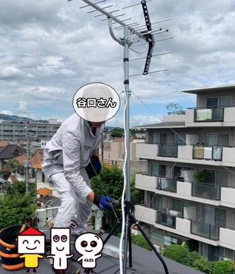 アンテナからテレビ入線口までの経路⑦